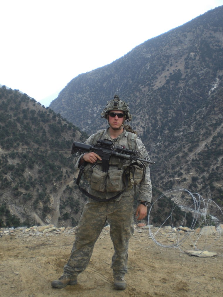 Image: Former Army Staff Sgt. Ryan Pitts, who will receive the Medal of Honor for his combat actions during an enemy engagement in Wanat in the Waygal Valley of northeastern Afghanistan, on July 13, 2008.