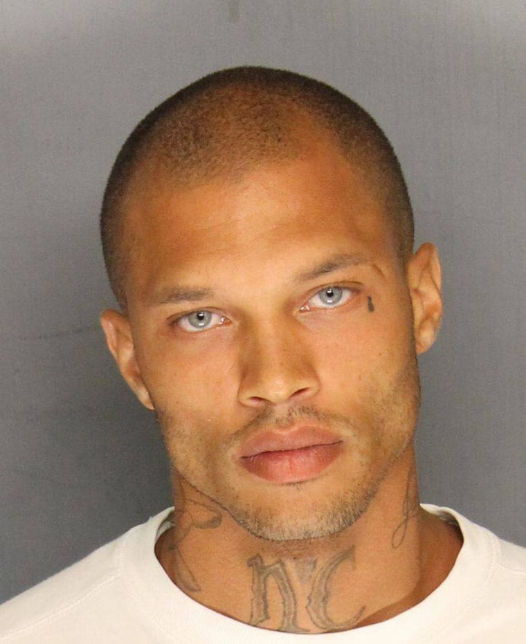 Image: Jeremy Meeks, 30, who was one of four men arrested Wednesday in raids in Stockton, Calif.