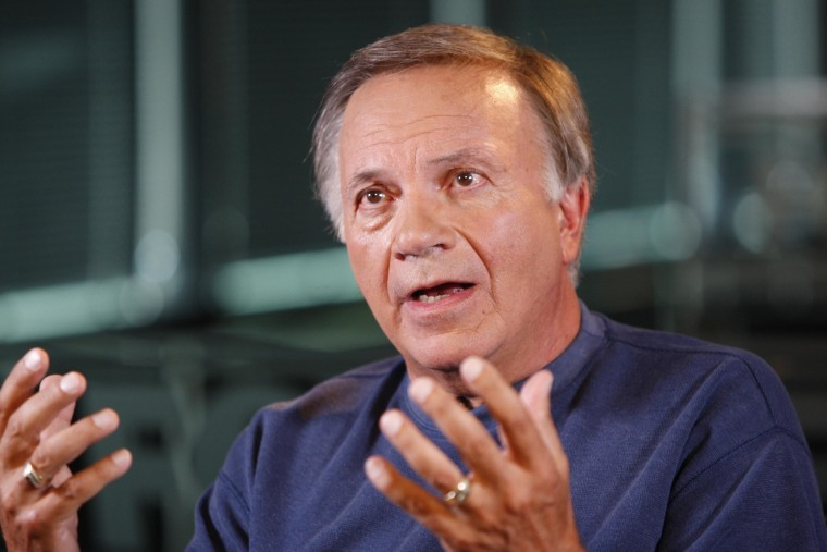 In this July 23, 2010 photo, former Colorado GOP congressman Tom Tancredo talks about the GOP U.S. Senate Race and the Colorado Governor's race during an interview at KDRV-TV in Denver. In a move that complicates Republican efforts to take back the Colorado governor's office, former GOP congressman Tom Tancredo said Monday July 26, 2010, that he plans to change parties and run on the American Constitution Party ticket.  (AP Photo/Ed Andrieski)