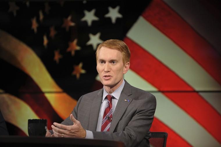 Image: Congressman Lankford participates in the U.S. Senate debate in Tulsa