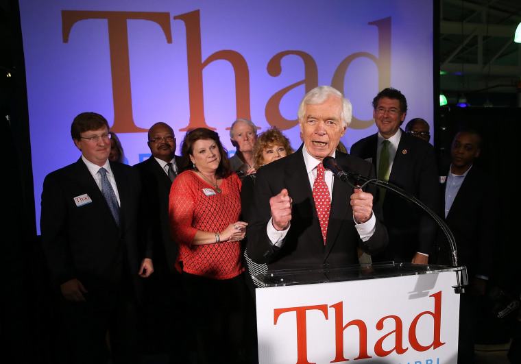 Image: Thad Cochran Awaits Election Results After Close Run-Off Election