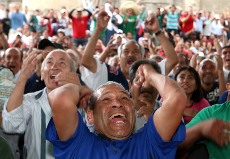 Image: Mexico fans celebrate their team's victory