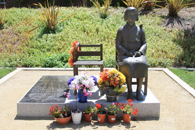 The Comfort Women Statue in Glendale, California was installed on July 30, 2013.