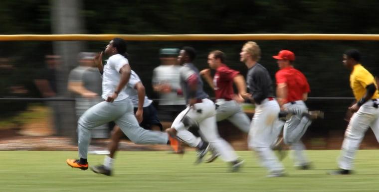Amateur baseball tryouts