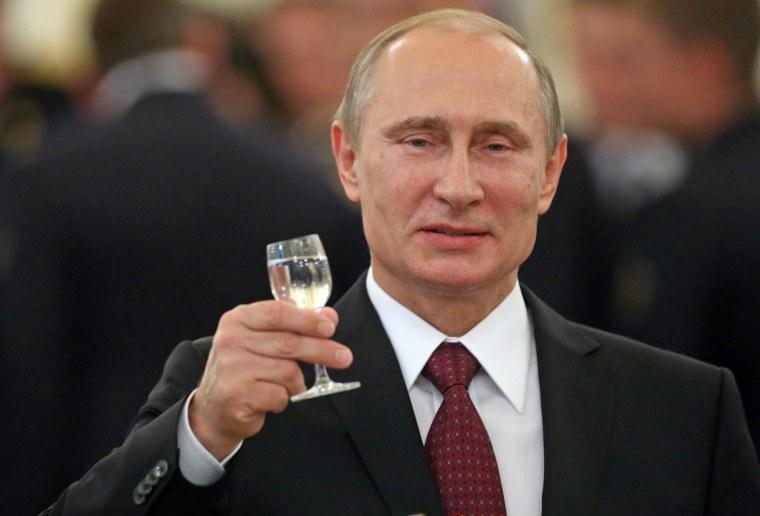 Image: Russian President Vladimir Putin Attends Reception For Military Academy Graduates