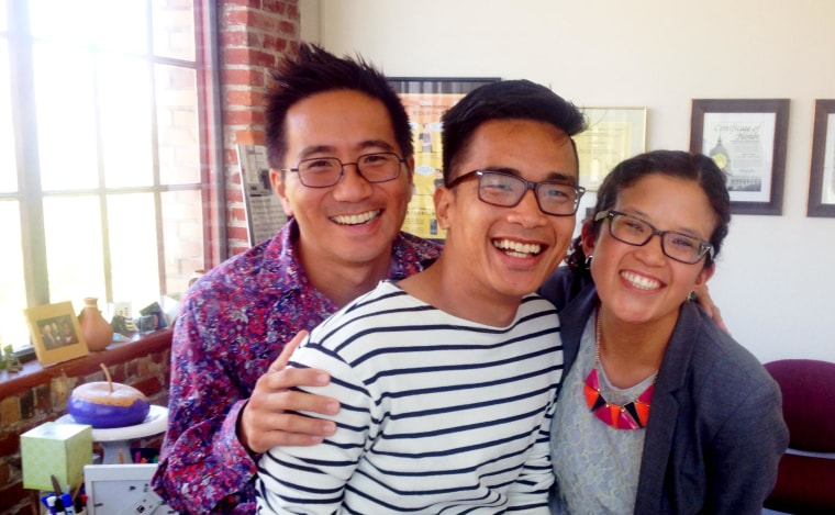 John Guigayoma with co-workers at the Asian & Pacific Islander Wellness Center in San Francisco.