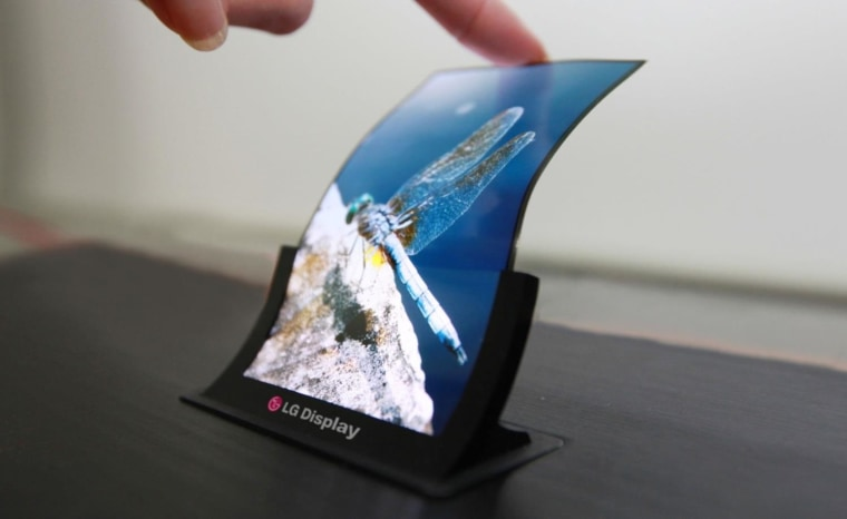 A prototype OLED display from LG bends easily (but still can't fold).