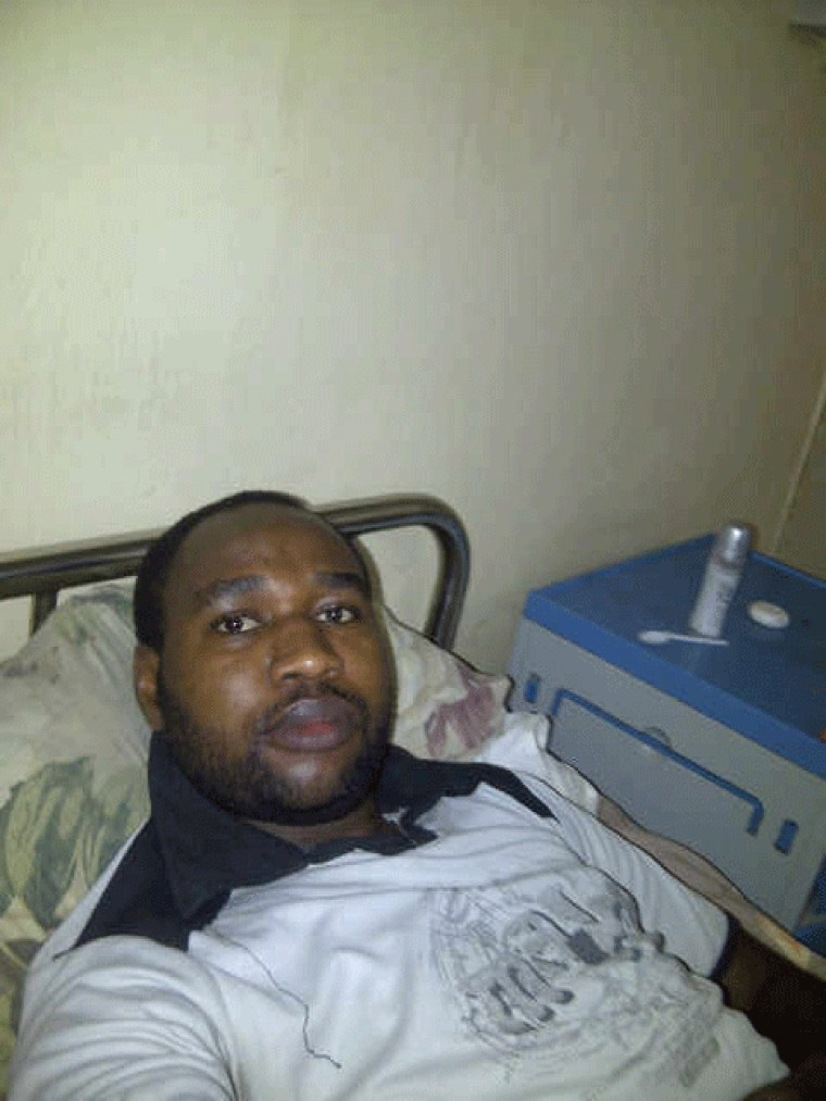 Image: Mubarak Bala from his bed in Aminu Kano Teaching Hospital in Kano, Nigeria.