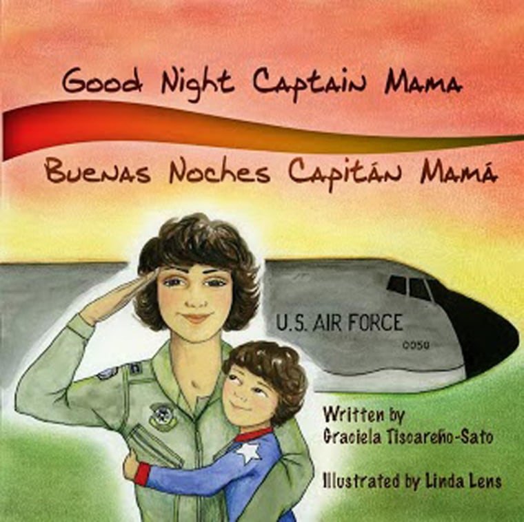 "The children's book ""Good Night, Captain Mama/Buenas Noches, Capitán Mamá"" self-published by Latina military veteran Graciela Tiscareno-Sato."