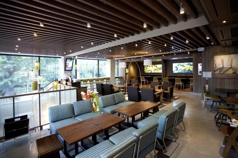 Inside a Starbucks coffee shop in Dongbu Ichondong, Seoul, South Korea.
