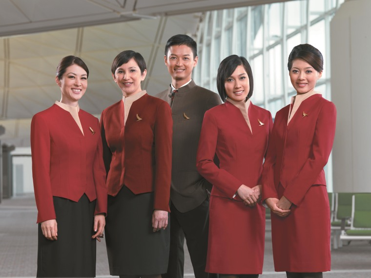 Image: Cathay Pacific modern uniform