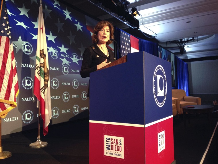 Image: SBA Administrator Maria-Contreras Sweet speaks at the NALEO 31st Annual Conference in San Diego, Friday, June 27, 2014.