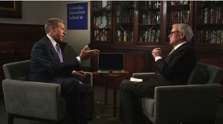 Brian Williams and Tom Brokaw discuss Williams' Katrina coverage.