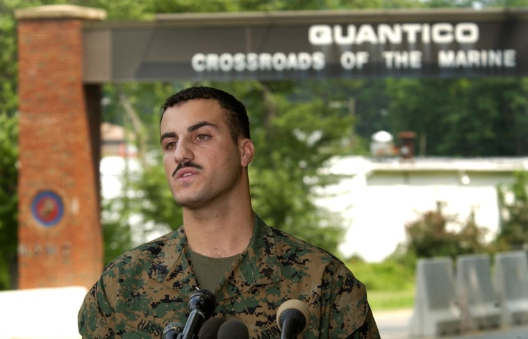 Image: Marine Cpl. Wassef Ali Hassoun in 2004