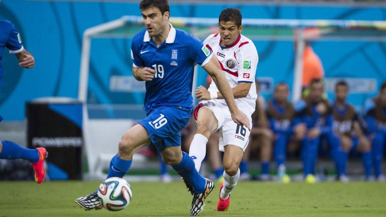 Image: 2014 FIFA World Cup Brazil: Round 16 - Costa Rica 1(5-3)1 Greece