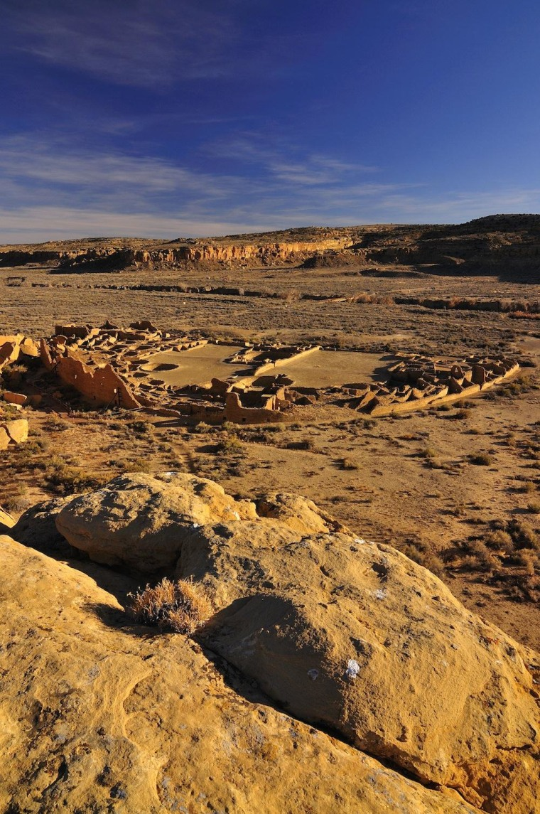 Image: Pueblo Bonito site in New Mexico