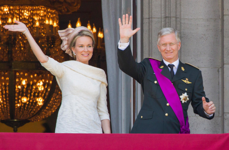 Queen Mathilde of Belgium and King Philippe of Belgium.