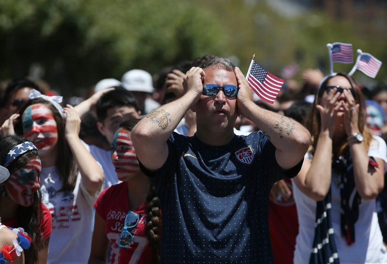 Image: Soccer Fans Gather To Watch US Team's Knockout Stage Match Against Belgium