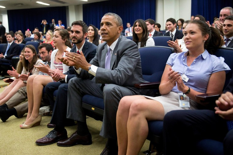 Image: President Obama Watches USA vs Belgium World Cup Game