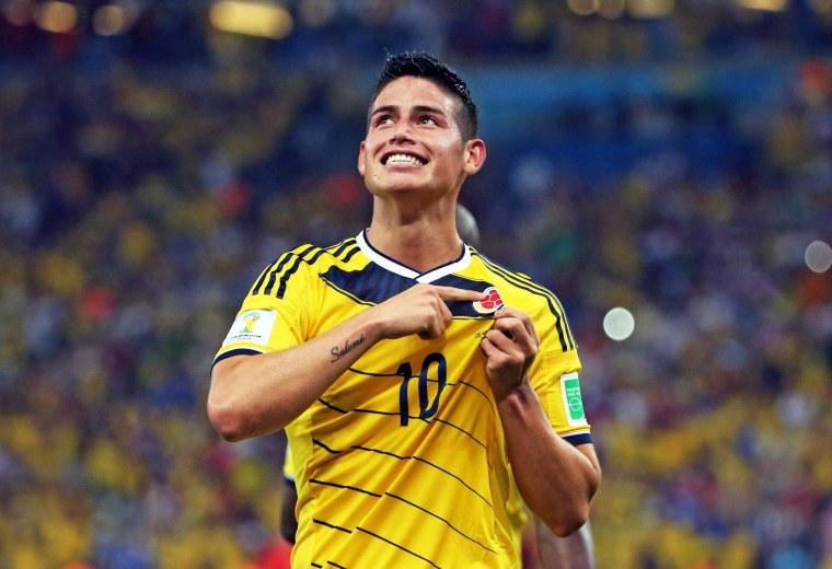 Image: Round of 16 - Colombia vs Uruguay