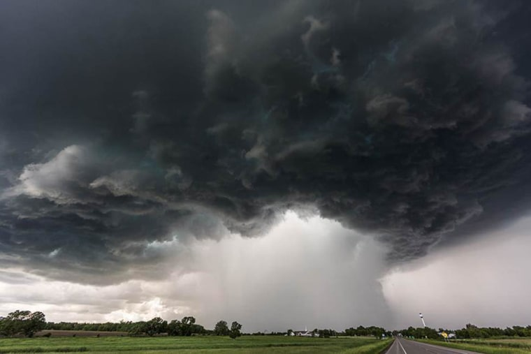 Image: Camille Seaman captured this supercell over Bertha, MN on July 26, 2014.