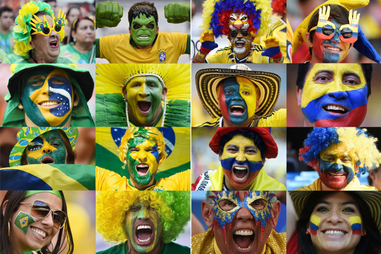 Image: TOPSHOTS-FBL-WC-2014-COMBO-FANS