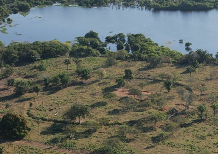 Image: Ring ditch next to Laguna Granja in the Amazon of northeastern Bolivia
