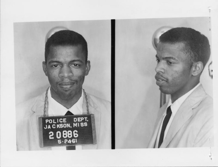 Image: Rep. John Lewis tweeted his booking photo to mark the day he was released from prison, 53 years ago.