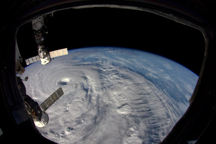 Supertyphoon Neoguri seen from the International Space Station on July 7, 2014.