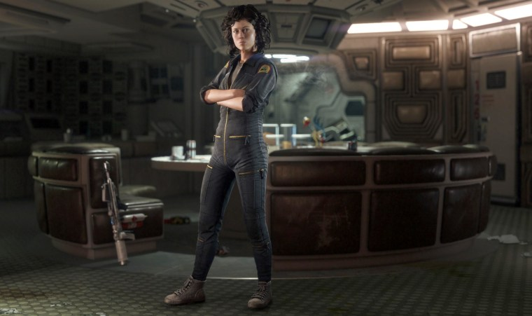 """Image: The character Ellen Ripley, voiced by Sigourney Weaver, in a scene from """"Alien: Isolation."""""""