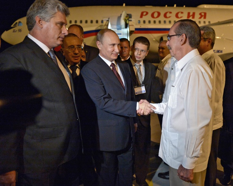 Image: Russian President Vladimir Putin in Cuba