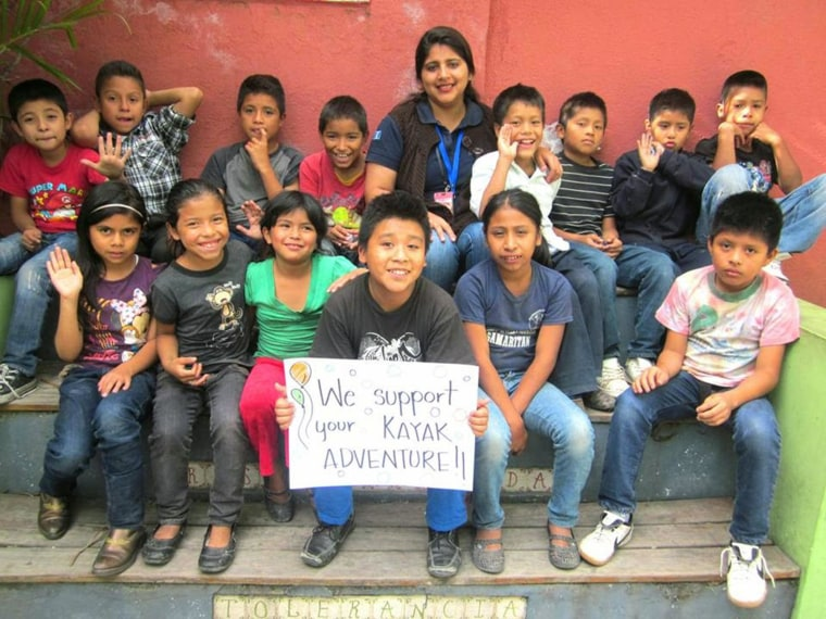 Image: Children helped by Safe Passage send support
