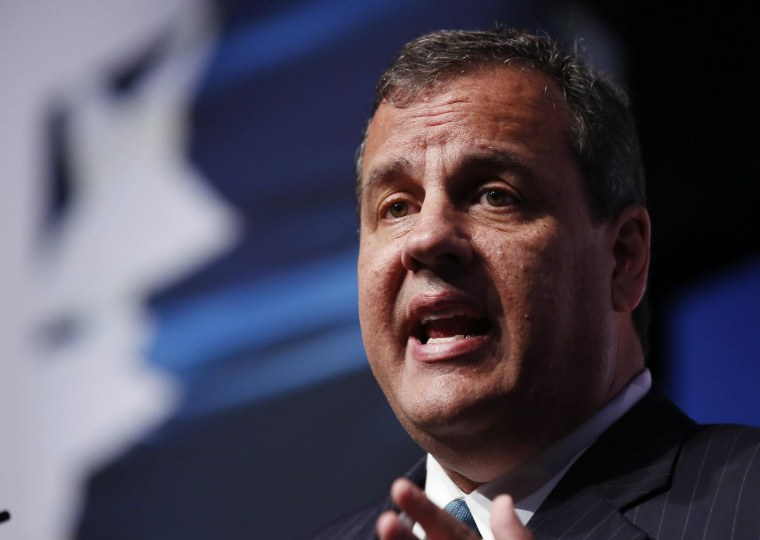 """Image: New Jersey Governor Chris Christie speaks at the second day of the 5th annual Faith & Freedom Coalition's \""""Road to Majority\"""" Policy Conference in Washington"""