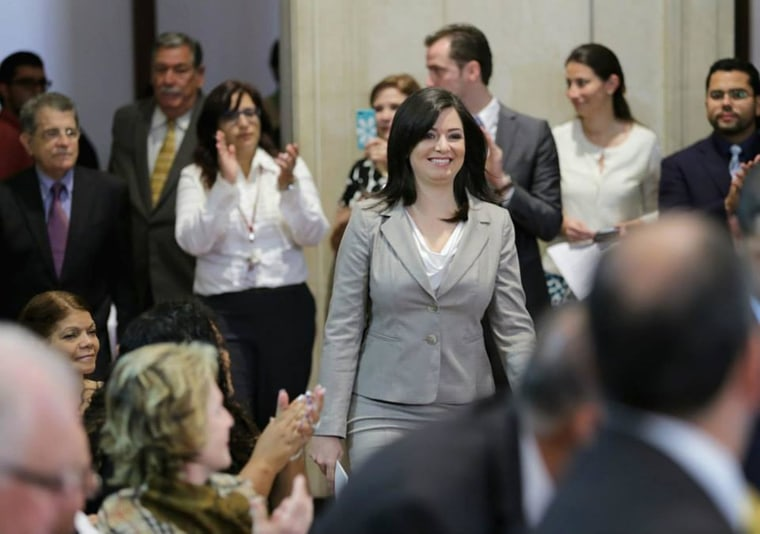 Image: Maite Oronoz Rodriguez, who was sworn in on July 15 as the first LGBTQ justice in Puerto Rico's Supreme Court.