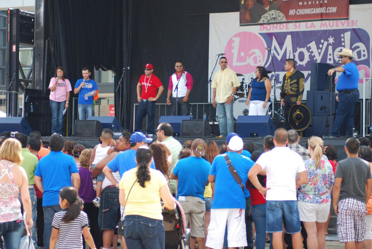 Image: A concert in Madison, Wisconsin, sponsored by La Movida radio station.