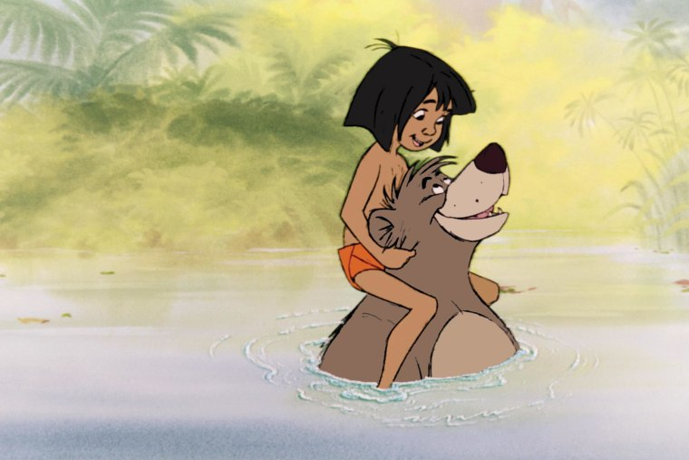 THE JUNGLE BOOK, Mowgli, Baloo, 1967