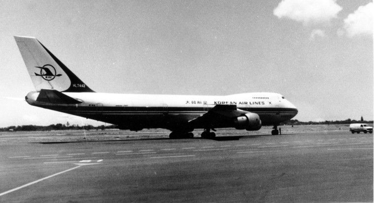 Image: This KAL 747 airliner, Korean Airlines Flight 007, was shot down Sept. 1, 1983 by a Soviet fighter plane, killing all 269 persons on board.