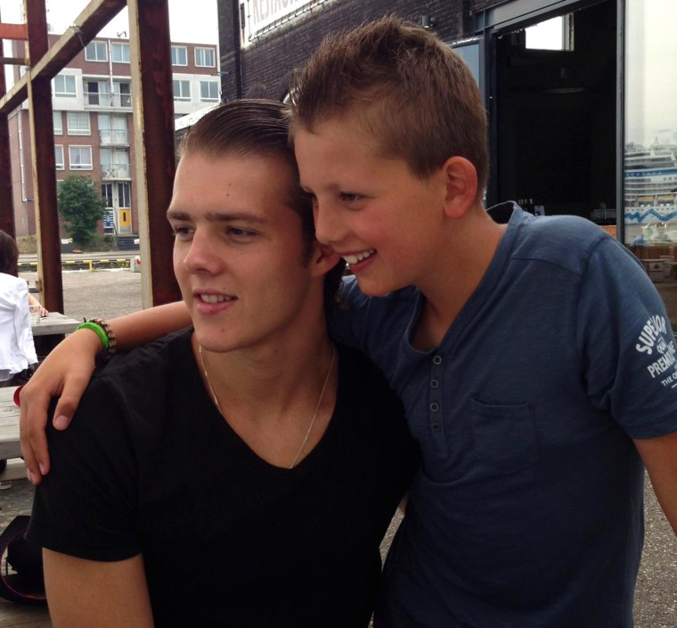 Image: Quinn Schansman and his step brother