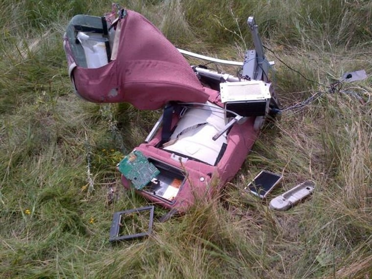 Image: Scene of MH17 crash in eastern Ukraine