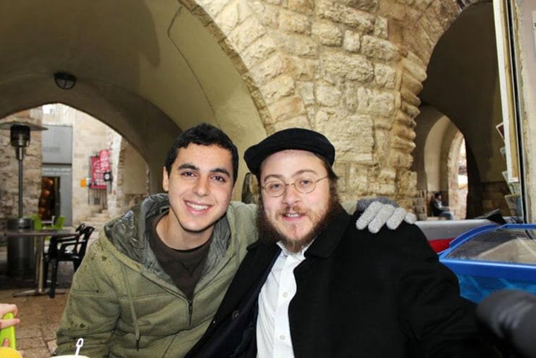 Image: Nissim Sean Carmeli, left, with Hecht in Jerusalem in 2012