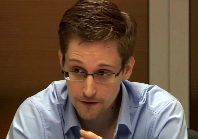 Image: Image: Edward Snowden Meets With German Green Party MP Hans-Christian Stroebele In Moscow