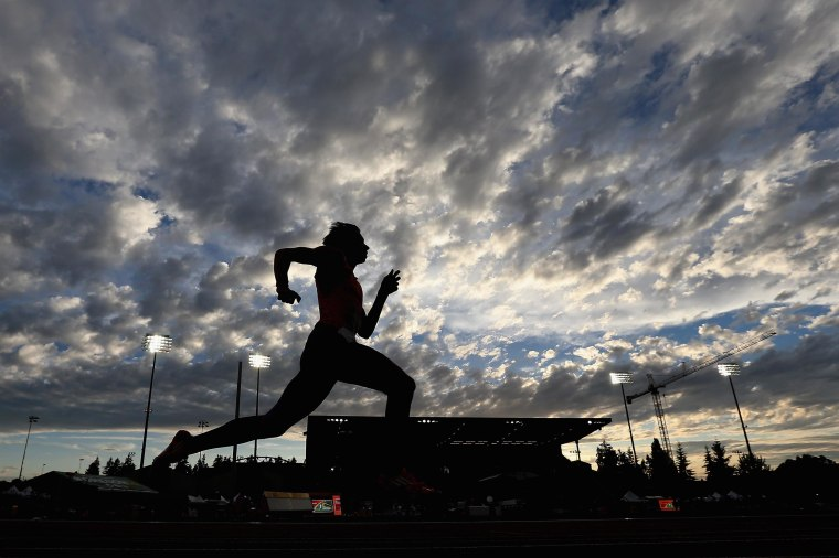 Loek van Zevenbergen of the Netherlands competes in the men's 400m decathlon during day one of the IAAF World Junior Championships at Hayward Field on July 22, 2014 in Eugene, Oregon.