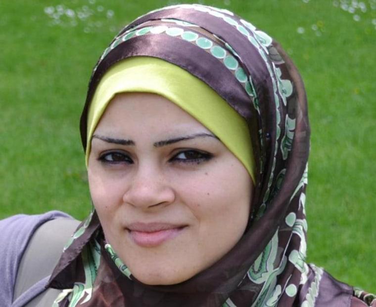 Image: Hassan Al Hallaq's wife Samar
