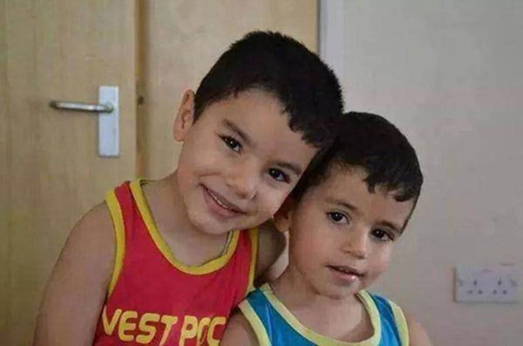 Image: Hassan Al Hallaq's sons Kenan and Saji