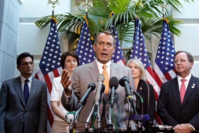 Image: John Boehner, Eric Cantor, Renee Ellmers, Cathy McMorris Rodgers, Bill Flores