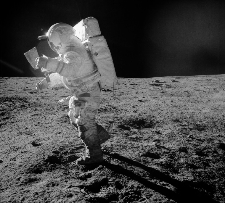 Image: Mitchell on the moon