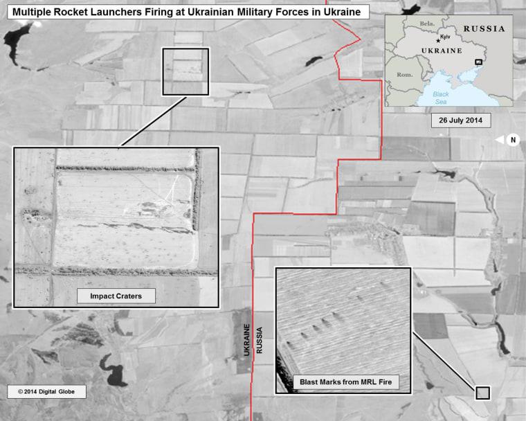 Multiple Rocket Launcher Strikes within Ukraine (25/26 July)