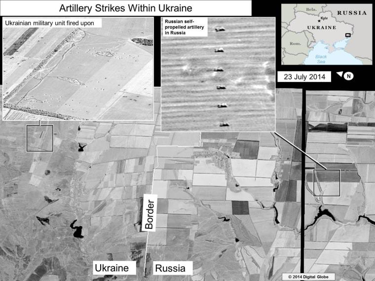 Artillery Strikes Within Ukraine slide (23 July 14)
