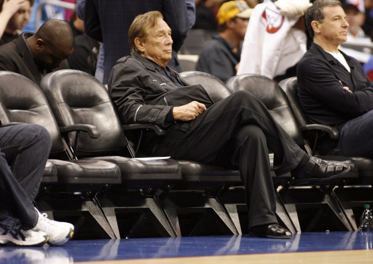 Image:  Los Angeles Clippers owner Donald Sterling