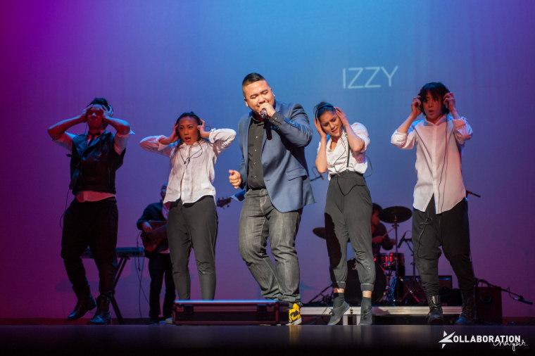 Izzy Man during his showcase-winning performance at Kollaboration New York 2013.